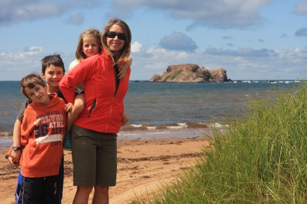 4 - Ryan, Andrew, Jenna, Catharine on Magdalene Islands, Quebec