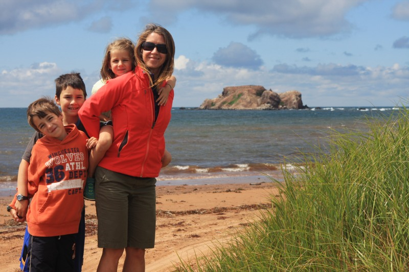 4 - Ryan, Andrew, Jenna, Catharine on Magdalene Islands, Quebec